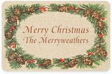 "Weather GuardTM 17.5-Inch x 26.5-Inch ""Merry Christmas"" Pine Border Door Mat"
