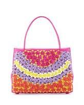 Nancy Gonzalez Wallis Medium Floral Crocodile Tote Bag, Pink/Multi