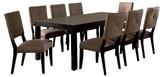 Furniture of America 9 Piece Rectangular Dining Table Set Wood/Espresso