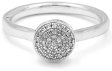 Monica Vinader Silver Diamond Ava Button Ring