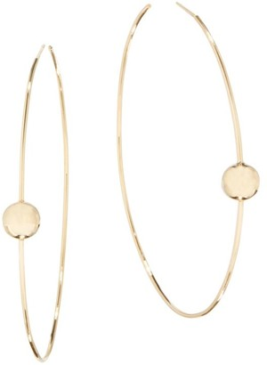 Lana Hollow Ball 14K Yellow Gold Hoop Earrings