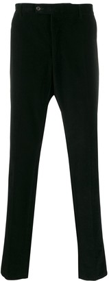 Yves Saint Laurent Pre Owned 1990s Velvet Effect Tapered Trousers