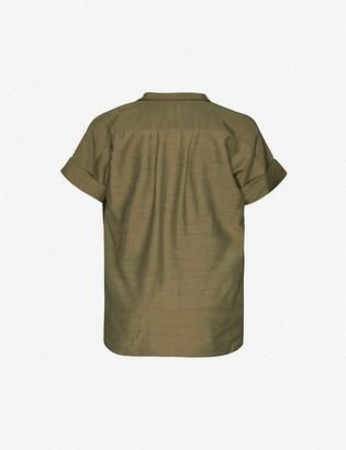 Frame Short-sleeve relaxed-fit woven shirt