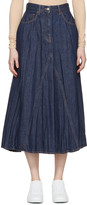 MM6 MAISON MARGIELA Indigo Crumpled Denim Skirt