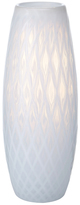 Mikasa Large White Whisper Diamond Vase