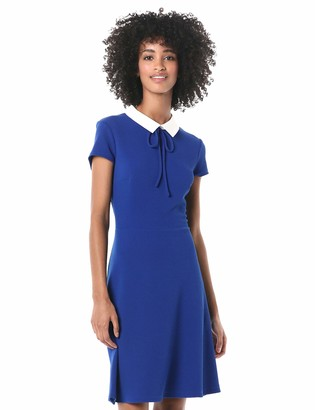 Pappagallo Women's Short Sleeve Collar Dress