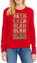 Love on a Hanger Love On A Hanger Holiday Fa La La Blah Christmas Graphic Sweatshirt
