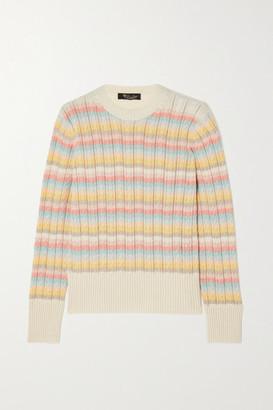 Loro Piana Vence Striped Cable-knit Cashmere Sweater - Ivory