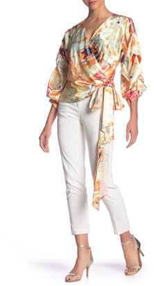 Meghan La Floral Wrap Blouse