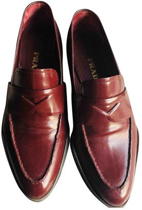 Prada Red Leather Flats