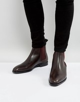 Ps By Paul Smith Gerald Leather Chelsea Boots In Brown