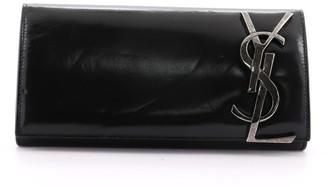 Saint Laurent Smoking Monogram Clutch Leather Long
