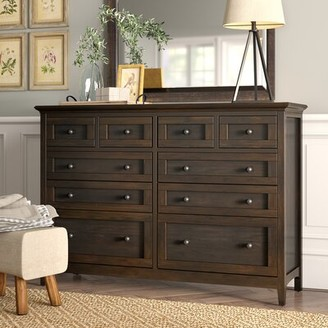 August Grove Calila 10 Drawer Double Dresser Color: Dark Mahogany