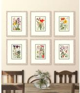"""21 in. x 25 in. """"Cottage Flowers V"""" Framed Giclee Print Wall Art"""