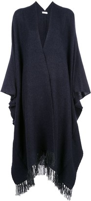 Brunello Cucinelli Fringed Knitted Cape