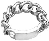 Blu Bijoux Silver Link Tag Ring