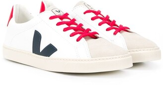 VEJA KIDS TEEN Esplar logo patch sneakers