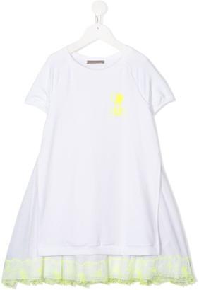 Ermanno Scervino lace-trimmed T-shirt dress