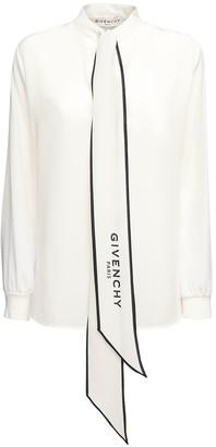 Givenchy Scarf Collar Crepe De Chine Shirt