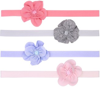 Fruit of the Loom Baby Girl 4 Pack Floral Headwraps