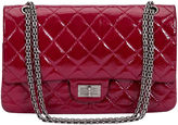 One Kings Lane Vintage Chanel Burgundy Patent Jumbo Bag
