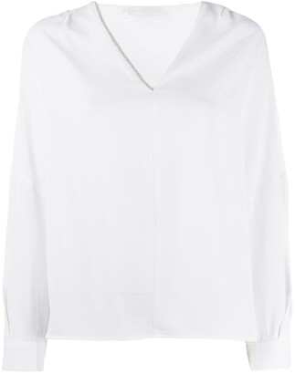 Fabiana Filippi Bead-Embellished Top
