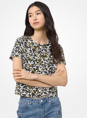Michael Kors Butterfly Camo Cotton T-Shirt
