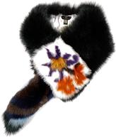 Fendi Botanical Garden fox-fur scarf