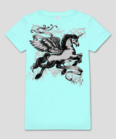Micro Me Mint Pegasus Fitted Tee - Infant Toddler & Girls