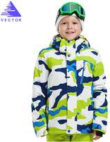 Vector Windproof Waterproof Warm Snowboard Hooded Coat Children Ski Jacket M