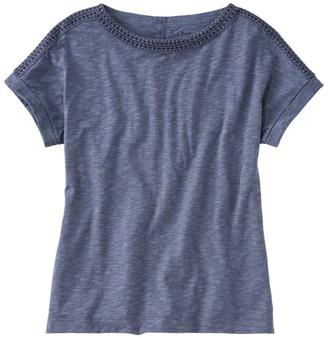 L.L. Bean L.L.Bean Women's Cotton/Tencel Slub Tee, Short-Sleeve Boatneck