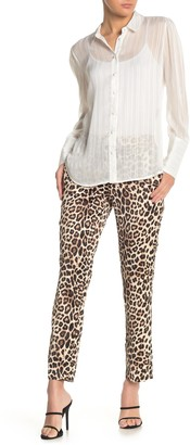 Laundry by Shelli Segal Leopard Print Satin Pants