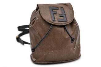 Fendi Brown Cloth Backpacks