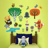 Oopsy Daisy Fine Art For Kids Peel and Place Funky Woodland Creatures Boy by Helen Dardik, 54 by 60-Inch by