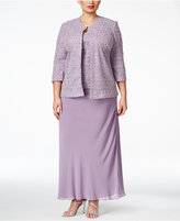 Alex Evenings Alex Evening Plus Size Textured Jacket and Shell Set