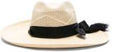 SENSI STUDIO Panama Hat Long Brim Calado Hat