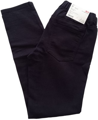 Uniqlo Black Cotton Trousers for Women