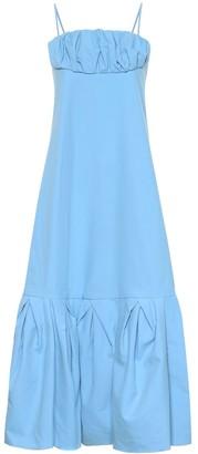Rosie Assoulin Ruffled cotton midi dress