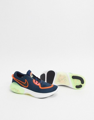 Nike Running Joyride 2 sneakers in navy and yellow