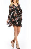 Takara Floral-Printed Faux Wrap Dress