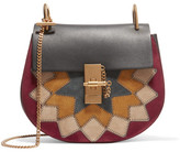 Chloé Drew Wonder Woman Small Suede And Leather Shoulder Bag - Black
