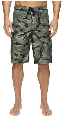 Quiksilver Manic Camo 22 Boardshorts (Forest Night) Men's Swimwear