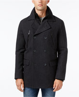 Calvin Klein Men's Layered Pea Coat