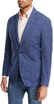 Peter Millar Textured Plaid Soft Jacket