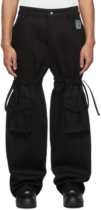 Phlemuns Black Logo Cargo Pants