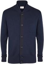 Oliver Spencer Milano Navy Merino Wool Cardigan