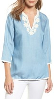 Tommy Bahama Women's All Day Embroidery Chambray Tunic