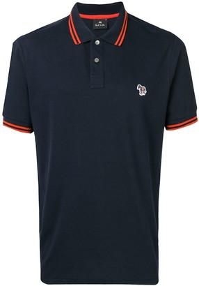 Paul Smith Zebra Logo Patch Polo Shirt