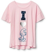 Gap GapKids | The Smurfs embellished graphic tee
