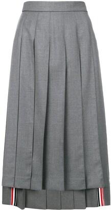 Thom Browne asymmetric pleated skirt